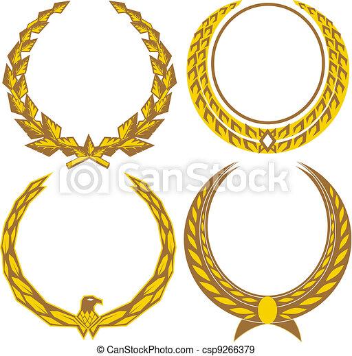 Gold Laurels - csp9266379
