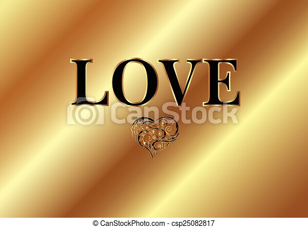 GOLD LOVE WORD - csp25082817