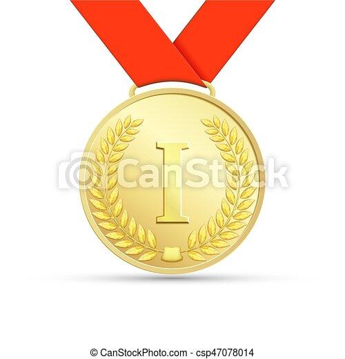 Gold medal. Stock illustration. - csp47078014