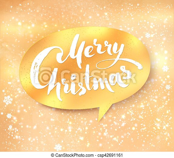 gold merry christmas banner csp42691161