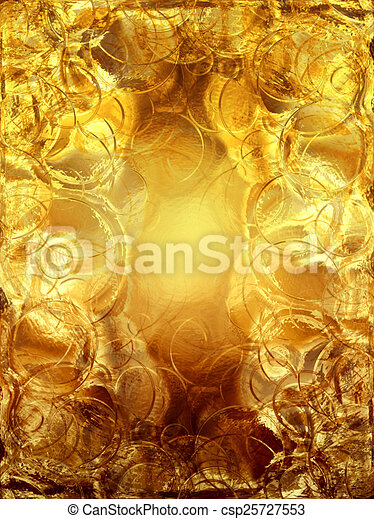gold metallic background - csp25727553