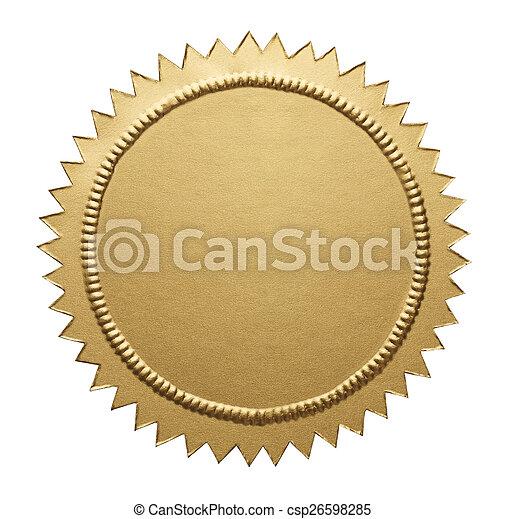 Gold Metallic Seal - csp26598285