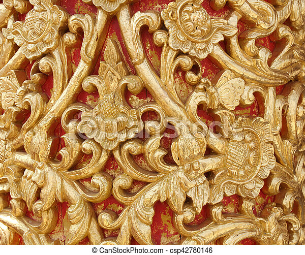 gold muster dekoration farbe holz schnitzen stockfoto fotografien und clipart fotos. Black Bedroom Furniture Sets. Home Design Ideas