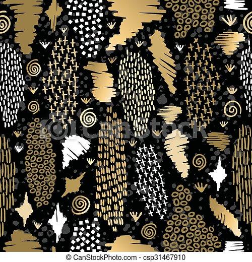 gold muster stammes seamless boho retro hintergrund csp31467910 - Boho Muster