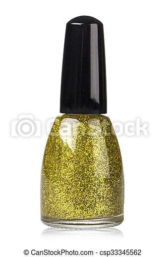Gold Nail Polish Clip Art
