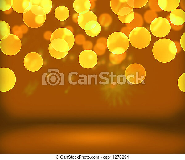 gold new year background stage csp11270234