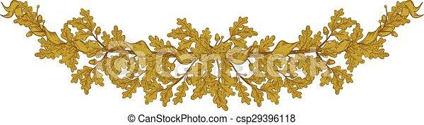 Gold Oak branch - csp29396118