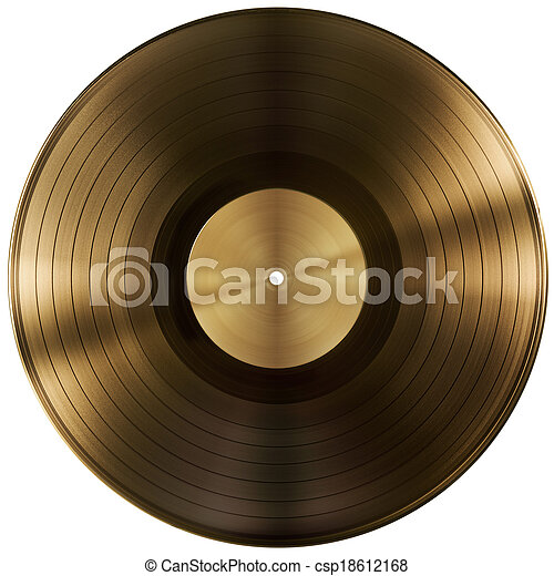 gold or vinyl record disc isolated included - csp18612168