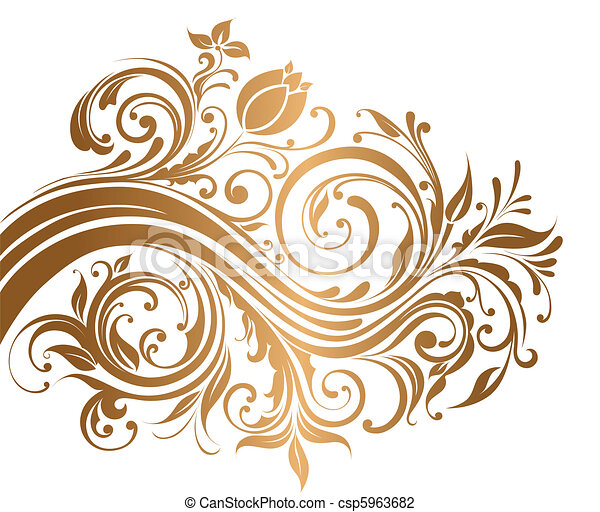 Gold ornament - csp5963682