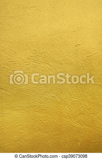 Gold paint background. Wall painted with gold color. textured ...