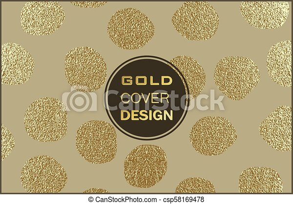 Gold pattern. Abstract golden background. Vector illustration. - csp58169478