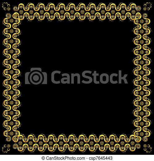 Gold pattern frame - csp7645443
