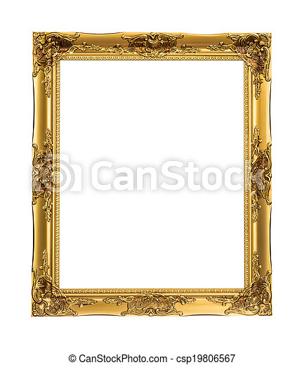 gold picture frame - csp19806567
