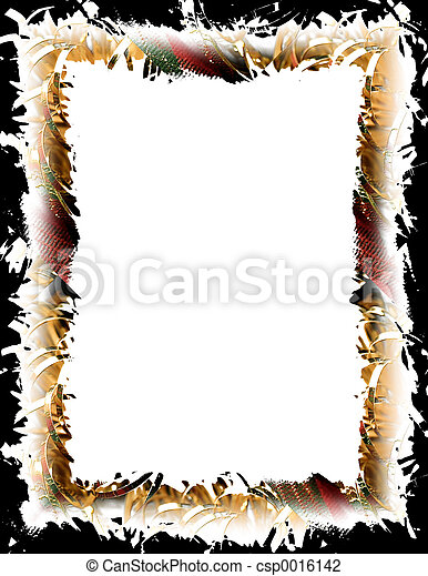 Gold & Plaid Frame - csp0016142
