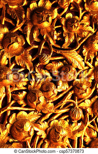 Gold plated carvings. wood carving patterns and then painted gold.