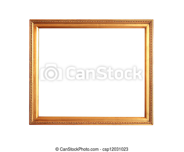 gold plated empty picture frame - csp12031023