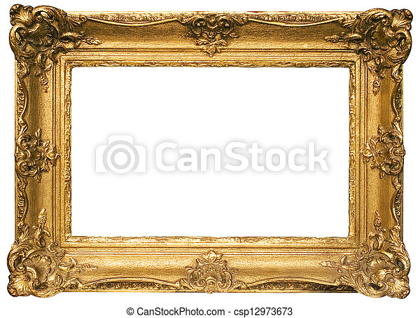 Gold Plated Wooden Picture Frame - csp12973673