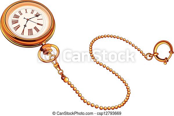 Gold Pocket watch - csp12793669