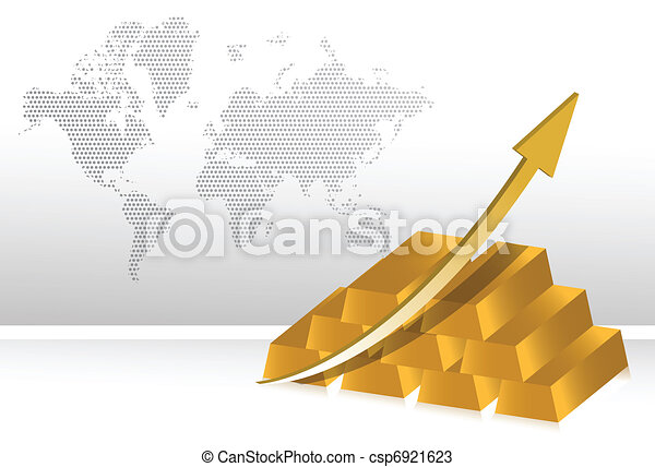 gold prices increase illustration - csp6921623