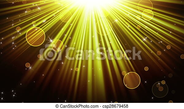 gold rays of light and stars loopable background gold rays of light and stars computer generated seamless loop abstract motion background