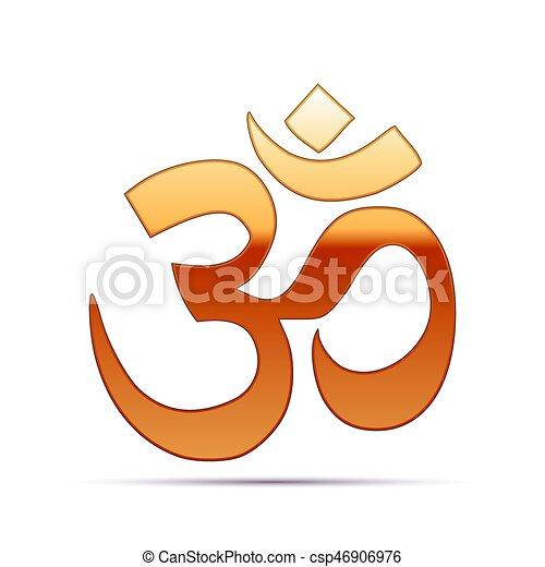 Fabelhaft Gold, religionen, symbol, om., abbildung, zeichen, hintergrund &DS_67