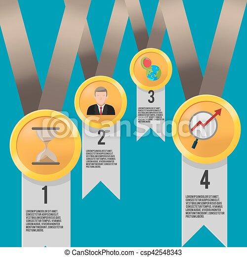 Gold reward business icon template vector eps vector - Search Clip ...