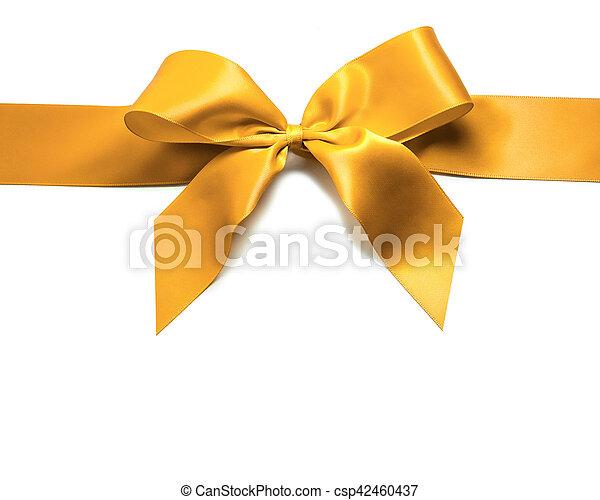 Gold ribbon and bow - csp42460437