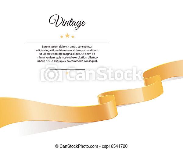 Gold ribbon - csp16541720