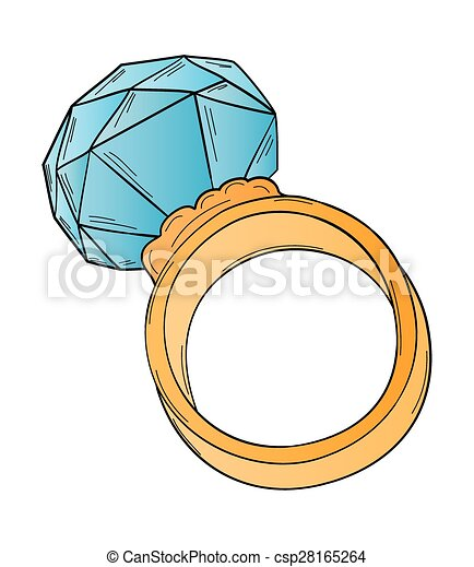 gold ring with big stone - csp28165264