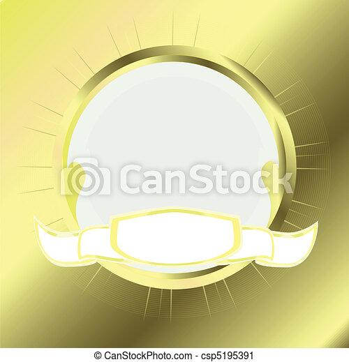 gold round frame - csp5195391