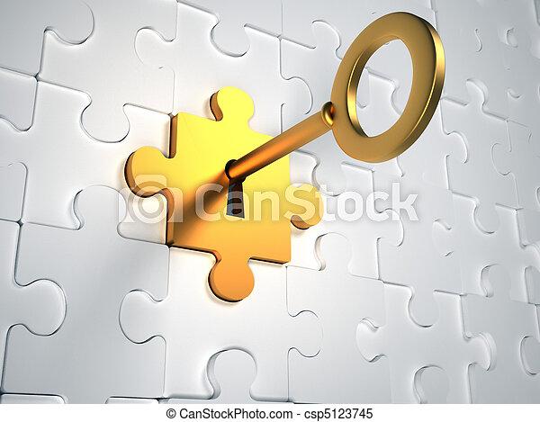 gold schlüssel - csp5123745