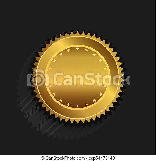 Gold seal logo - csp54473140