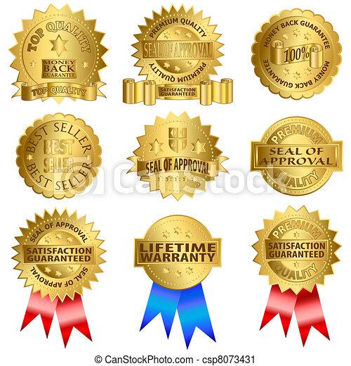 Gold seals - csp8073431