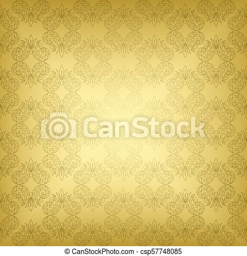 gold seamless vintage pattern - vector - csp57748085