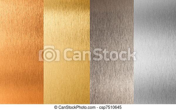 gold silver bronze nonferrous metal set - csp7510645