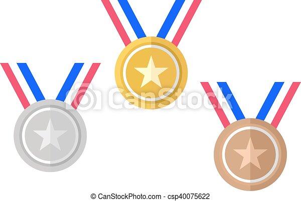 Oro, plata, bronce, oro - csp40075622