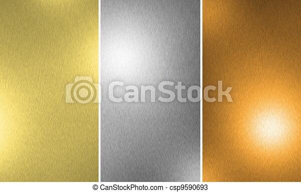 Gold Silver Bronze texture - csp9590693