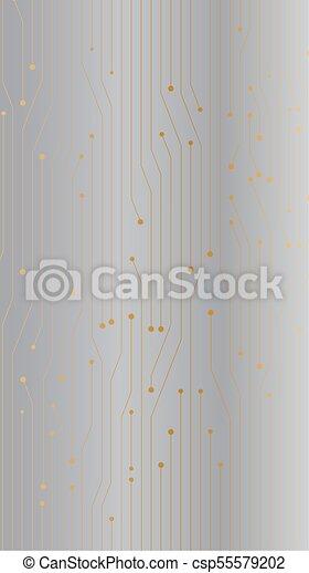 Gold Silver Gradient Circuit Board Design Iphone Wallpaper