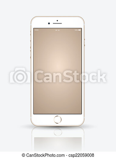 Gold smartphone mock up. - csp22059008
