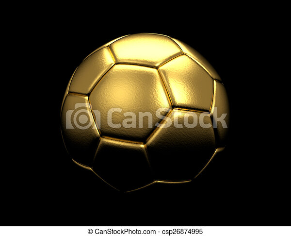 Gold Soccer Ball Trophy