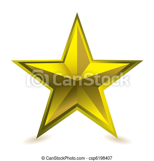 Gold Star Award Ideal Gift Icon For Golden Performance Vectors