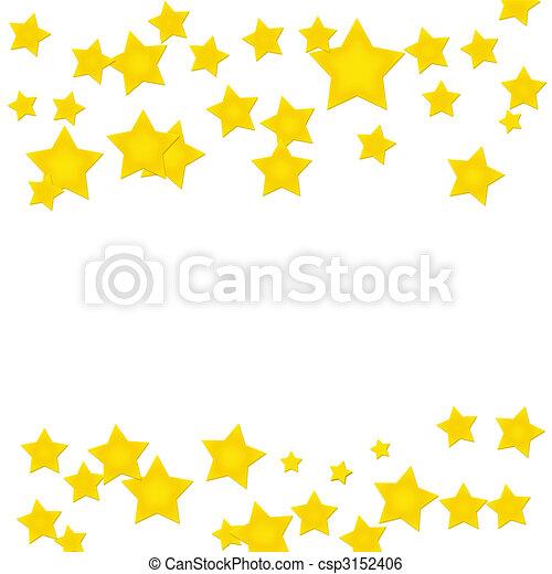 Gold Star Border Gold Stars Making A Border On A White