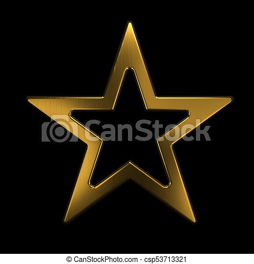 gold star icon 3d gold render illustration gold star icon 3d