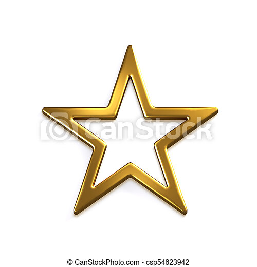 gold star icon 3d gold render illustration gold star icon