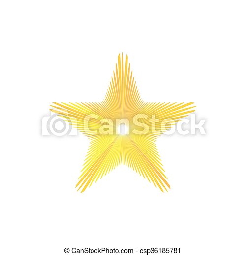 Gold star icon, cartoon style - csp36185781