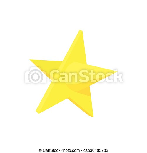 Gold Star Icon Cartoon Style Gold Star Icon In Cartoon Vector