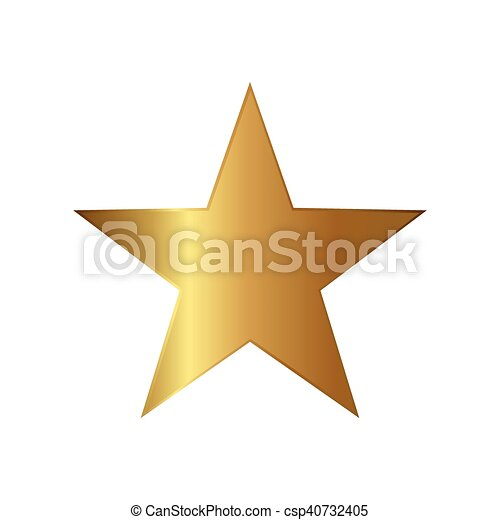 Gold Star Icon Illustration Gold Star Icon Illustration On A White