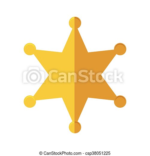 Gold Star Icon Justice And Law Vector Graphic Justice And