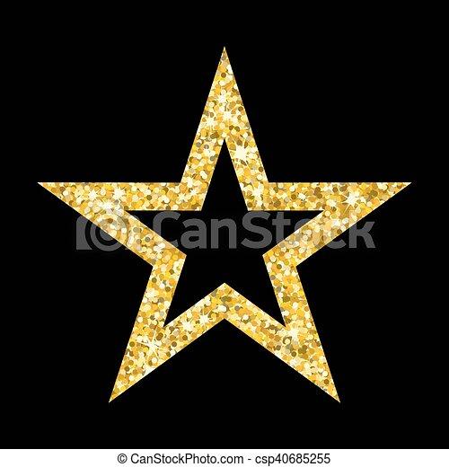 gold star on black csp40685255