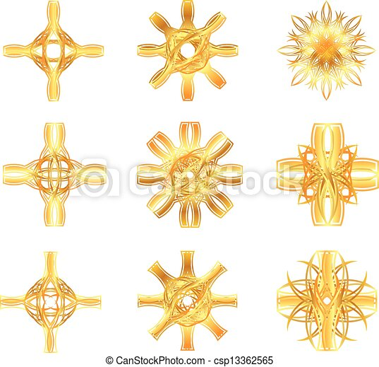 Set Of Gold Star Symbols Clip Art Vector Search Drawings And